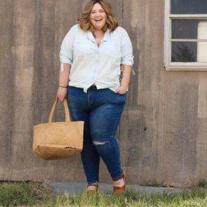 Simply Be Chloe Skinny Distressed Jeans